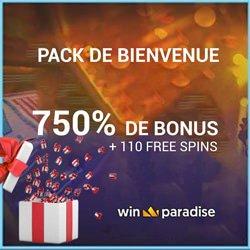 bonus bienvenue winparadise casino